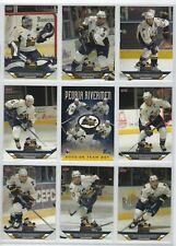 2005-06 Peoria Rivermen (AHL) complete 25 card team set