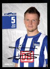 Maik Franz Autogrammkarte Hertha BSC Berlin 2012-13 Original Sign+A 105403