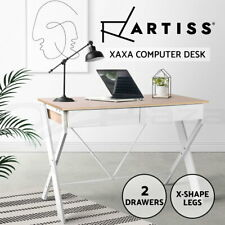 Artiss Computer Desk Office Study Student Writing Metal Table Drawer Cabinet
