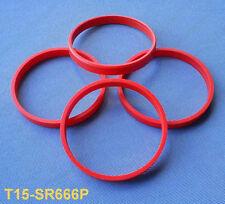 (t15-sr666p) 4 pezzi anelli di centraggio 72,0/66,6 mm Arancione per MAK TSW