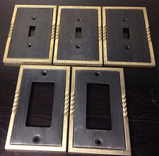 Vintage Metal Outlet & Light Switch Plates Lot Of 5~Framed