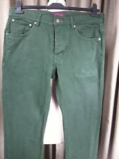 Ted Baker 100% Cotton Green Button Fly Tinned Sardines Denim Jeans 34R