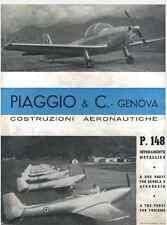 AIRCRAFT AERONAUTICA Piaggio P148 1954 Brochure - DVD