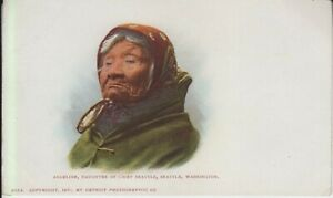 Postcard of Angeline Daughter of Chief Seattle Private Marking Card