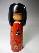 "JAPANESE VINTAGE Lovely Sosaku Kokeshi Wood DOLL Artist Miyagawa Kunio 17cm 6.7"""