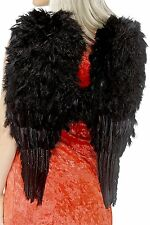 Smiffy's Feather Angel Wings - Black - One Size - SK075
