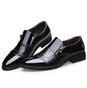 Men Formal Wedding Oxfords Pu Leather Shoes Casual Pointed Toe Dress Shoes