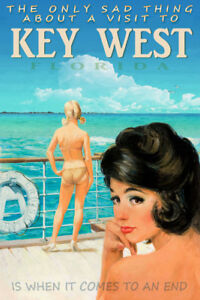 Key West Florida Cruise Ship Pin Up Poster Ocean Caribbean Travel Art Print 331
