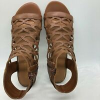 Rampage Women's Savanna Demi Wedge with Honeycomb Cutouts Zip Up Ankle High 8