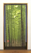 Japanese Bamboo Noren Door Curtain Tapestry Traditional Kyoto Take Green 85x170c