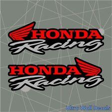 2 x HONDA RACING Aufkleber Sticker für Civic, Accord, CR-V, CR-Z, Insight 2016