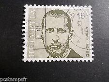 SUISSE SCHWEIZ 1971, timbre 886, A. YERSIN, CELEBRITE, CELEBRITY, oblitéré