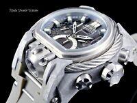 Invicta Reserve 52MM Bolt Zeus MAGNUM Gray Dial Dual Movement Gray Strap Watch