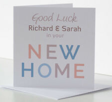 Personalised New Home Card. Good Luck, Housewarming, House Moving First 1st Home