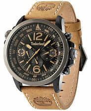 Timberland Men's Camptom Tan Leather Strap Watch 46x53mm TBL13910JSBU02