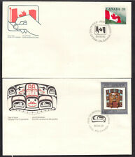 CANADA #1191,1241 on 1989 FIRST DAY COVER LOT/2