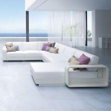 Modern Outdoor Rattan Garden Pool Furniture Long Chaise Sofa Lounge Modular Set