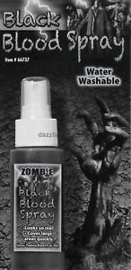 Zombie Fake Black Blood Spray Makeup Walking Dead Halloween Costume Accessory