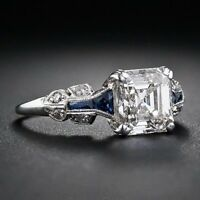 Women Fashion 925 Silver White Topaz Jewelry Wedding Engagement Ring Size6-10