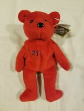 Salvino's Sports Bamm Beano's Sammy Sosa 21 Red Plush Beanie Bear in Case