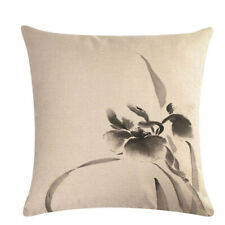 Painting Ink Tree Pillow Cover Linen Case Throw Home Cushion Decorative B