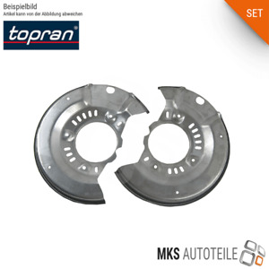 2x TOPRAN Spritz-, Ankerblech Bremsscheibe SET/Satz hinten beidseitig für BMW