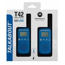 MOTOROLA Talkabout T42 Walkie Talkie, Two-way Consumer Radio, Blue