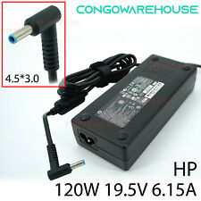 Original Slim HP 120w 19.5v 6.15a DC 4.5*3.0 AC Adapter Supply Charger