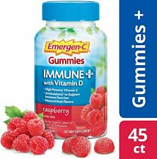Emergen-C Gummies Immune + Plus With Vitamin D, C, Zinc Raspberry 45 count 9/21