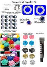DIY Stud Earring Kit Sampler Make 25 Pair of Earrings