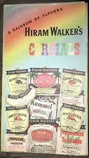 ca. 1935 Hiram Walker Cocktail Recipes Folded Brochure: Bartender Cordials 12 Pg