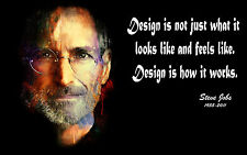 "Poster 24"" x 36"" Steve Jobs Abstract Painting Quotes"