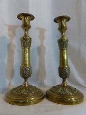 Bougeoirs anciens Bronze Restauration Empire Ancien French Candlestick 18 eme