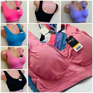 3-6 Women's Sports Bras Yoga Activewears Workout Gym Bra TOP PLUS SIZE Gift pack