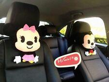 2Pcs Mickey Minnie Auto Car Seat Head Rest Cushion Pillows Neck Rest Pillow