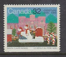 CANADA NO 1070, CHRISTMAS 1985: SANTA CLAUS PARADE (BOTTOM STAMP),  MINT NH