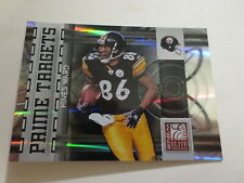 2009 Donruss Elite Prime Targets Hines Ward Card #8 Serial #104/399