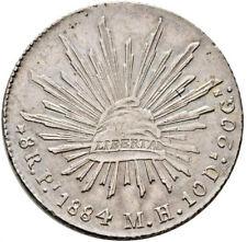 Mexico 8 Reales Pi 1884 M.H. Potosi Mint. KM# 377.12