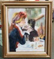 "After Renoir ""Luncheon of the Boating Party"" Oil Painting by V. Reinhard"