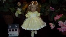 Kidz n Cats Mini Dolls Gathered Lace Easter Dress in Yellow