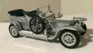 RARE - 1:43 SCALE - SILVER GHOST - 1907 Rolls Royce - FRANKLIN MINT - COMPLETE