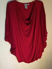 MARK BOUWER..SHIRT..RED..XS..SHORT SLEEVE DOLMAN..POLYESTER..XS..FREE SHIP