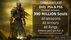 Dark Souls 3 (PS4/PS5) Item Drop - 400 Million Souls & All Items, Rings, Embers