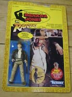 Raiders of the Lost Ark Indiana Jones Action Figure Vintage Carded 4 Back Kenner