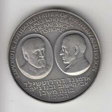 ISRAEL 1966 BARON ROTHSCHILD / Knesset by P. Vincze STATE MEDAL 45mm 40g SILVER