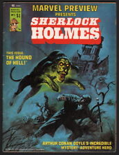 1976 Marvel Preview #5 Sherlock Holmes Hound of the Baskervilles Starlord Cameo