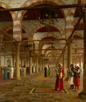 Jean Leon Gerome Prayer in the Mosque Giclee Art Paper Print Poster Reproduction