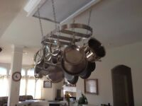 Calphalon 18 by 36-Inch Stainless Steel Oval Pot Rack
