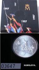 Año 1997. 2000 Pesetas Plata. DON QUIJOTE DE LA MANCHA. Cartera oficial FNMT.
