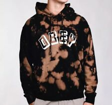 Obey New World Bleached Tie Dye Hoodie Hoody Hooded Sweater New W/Tags Mens Sz S